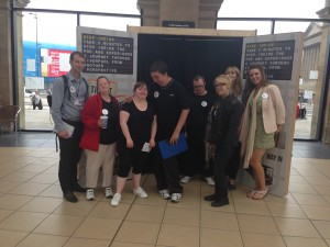 With volunteers from wirral and Liverpool mencap