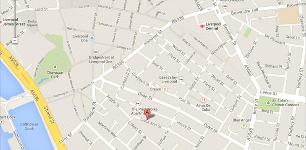 Map of Lydia Ann Street