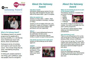Wirral Mencap Gateway Award