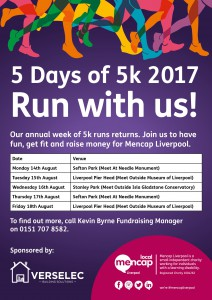 5DAYS OF 5K- VERSELEC 2017- WITH DATES VENUES